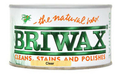 Briwax Wax Polish Clear 400g The Natural Wax, Cleans and Polishes Natural Sheen