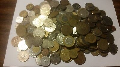 Lot of 3lbs of Antique/vintage/new foreign Coins