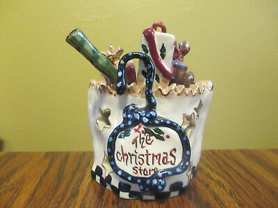 Blue Sky Clayworks Heather Goldminc The Christmas Store Votive 2001