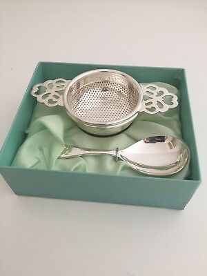 Fortnum And Mason Silver Pated Tea Strainer With Spoon