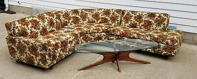 Vintage Mcm Kroehler 1955 Mid Century Modern Sectional Couch Sofa Retro Mad Men