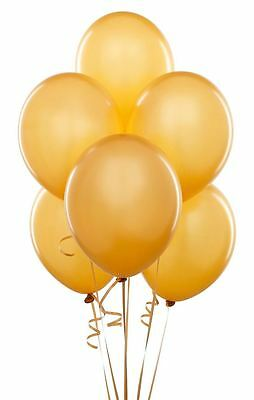 "12"" Metallic Gold Latex Air/Helium Party Balloons Birthday Party Decoration 5Pc"