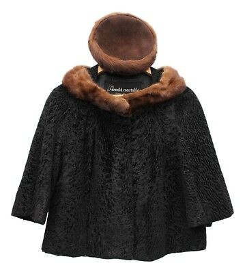 Arnold Constable Fifth Avenue Persian Lamb Jacket And Fur Nakamura Pillbox Hat