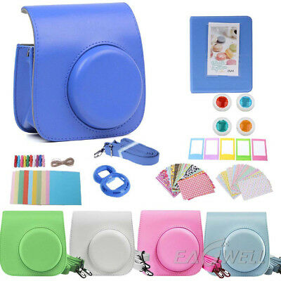 For Fujifilm Instax Mini 8 8+ 9 Film Camera Bag Case Cover + Album + Accessories