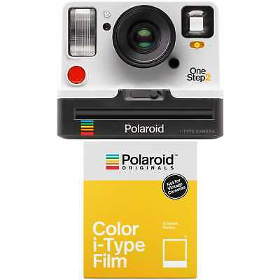 Polaroid OneStep2 i-Type Rechargeable Camera (White) with Color i-Type Film