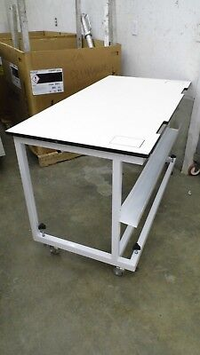 "30"" X 60"" X 35"" Tall Laminate Top Adjustable Height Laboratory Work Bench/table"