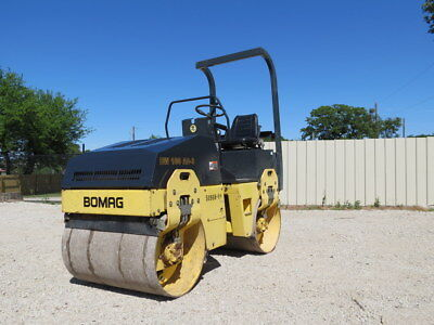 2005 Bomag Bw 100 Ad-3 Compactor Vibratory Tandem Roller Smooth Drum Water Spray