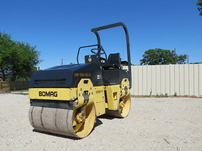 Bomag Bw 100 Ad-3 Compactor Vibratory Tandem Roller Smooth Drum Water Spray Vid
