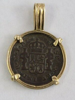 1810 Copper Coin In 14 Kt. Gold Bezel Nice Condition