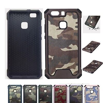 Army Shockproof Camouflage Armor Slim Back Case Cover Huawei P8 P9 P10 Lite LG