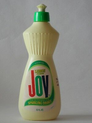 Vintage Joy Dish Detergent 12 oz Bottle half full Original Price 43 cents