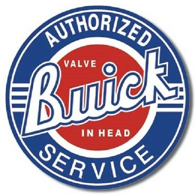 "Buick Service 12"" Round Vintage Style Metal Signs Oil Gas Pump Garage Man Cave"