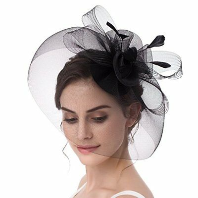 Adorable Black Fascinator For Derby Party, Wedding Or Church!  Nwt!