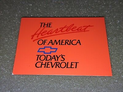 Chevrolet Toolbox Magnet - THE HEARTBEAT OF AMERICA - TODAY'S CHEVROLET - Orange