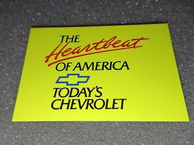 Chevrolet Toolbox Magnet - THE HEARTBEAT OF AMERICA - TODAY'S CHEVROLET - Yellow