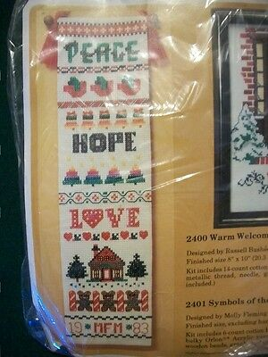 "Creative Circle ""Symbols of the Season Bell Pull"" Cross Stitch Kit Size 7 x 26"""
