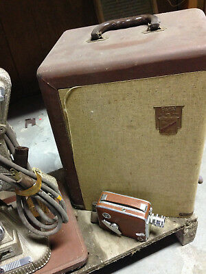 Vintage Keystone 8Mm Projector, Case, Camera And Screen-Local Pick Up Only