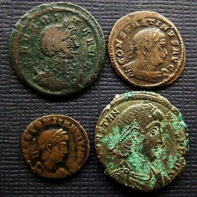 Roman Imperial; A job lot of 4 AE coins; various types
