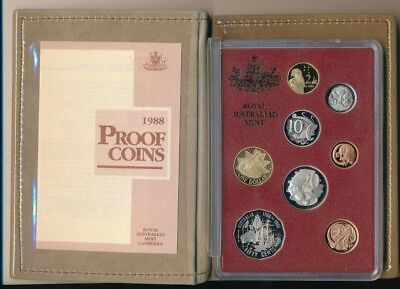 1988 Australia Royal Australian Mint Proof Set-8 Nice Coins!-In Box-Ships Free!