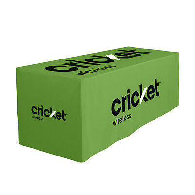 Cricket Wireless Green Fitted Table Cloth