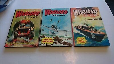 3 x WARLORD FOR BOYS ANNUALS 1979/1980/1981