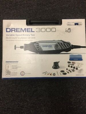 Dremel 3000 Rotary Tool In Gray Case And Acc.