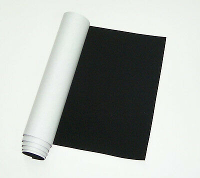"ScopeStuff #FLK1SB - Black Flocking Material, Self Adhesive, Sample 12"" x 12"""
