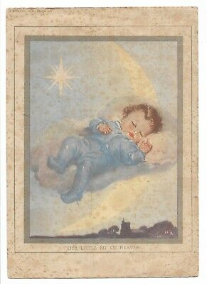 *our Little Bit Of Heaven* X 1 Only Small Antique/vintage Nursery Print
