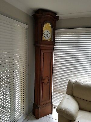 French Grandfather clock, tall case, long case, comtois, repeater clock 1800's