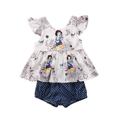 NWT Snow White Princess Baby Girls Tunic Bloomers Diaper Cover Outfit Set