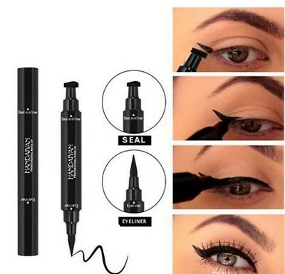 HANDAIYAN Double-end Triangle Stamp Eyeliner 2-in-1 Waterproof  UK SELLER