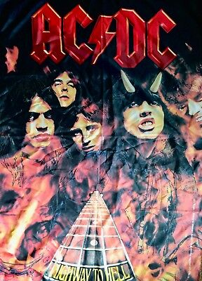 AC/DC Highway to Hell Banner Fabric Poster Large 30x42 inch