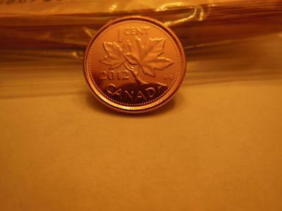 1- 2012 Copper Plated Steel (Last) Canadian Penny Very Rare Magnetic Variety!!!