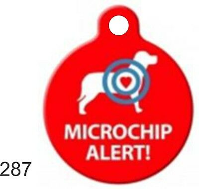 Pet Tags Personalized Pet ID tag Dog and Cat MICROCHIP ALERT Round Made In USA