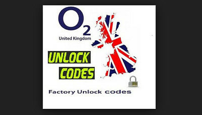 Unlock codes for O2 UK All Phones except iPhones (3-7 Days, No Tesco)