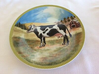 VTG collectible wall plate Old McDonald cow American Atelier home decor