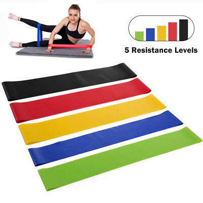 Resistance Loop Exercise Yoga Bands Home Gym Workout Fitness Training CrossFit