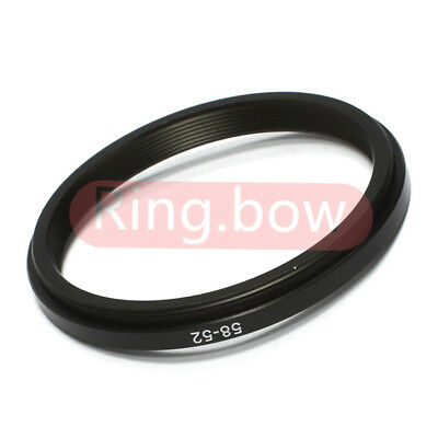 NEW 58-52mm Step-Down Metal Filter Adapter Ring