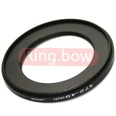 NEW 72mm-49mm Step-Down Metal Filter Adapter Ring