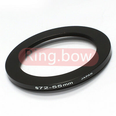 NEW 72mm-55mm Step-down Metal Filter Adapter Ring