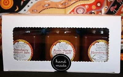 Jam Gift Pack 2 - Quandong, Rustic Honey Apricot, Strawberry Daiquiri, 3 Jars