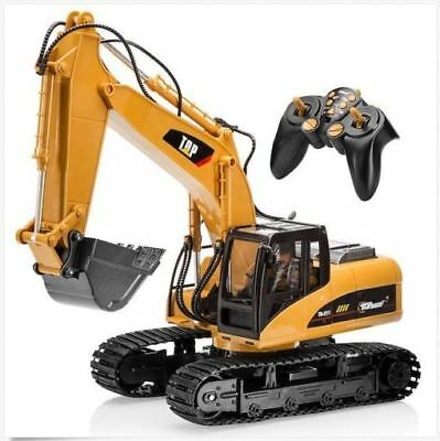 Excavator Construction Tractor Remote Control Functional Toy, with Metal Shovel