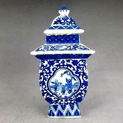 Exquisite Handmade Porcelain Painting  Noble Blue And White Vase