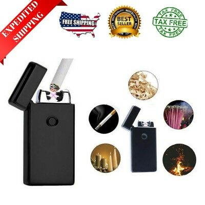 Atomic USB Electronic Lighter Dual Arc Flameless Plasma Lighter Rechargeable NEW