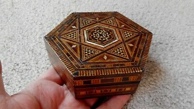 Antique Inlaid Middle Eastern Lidded Box