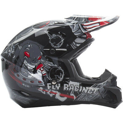 Fly Racing 2017 Mx NEW Kids Kinetic Invazion Grey Black Youth Motocross Helmet