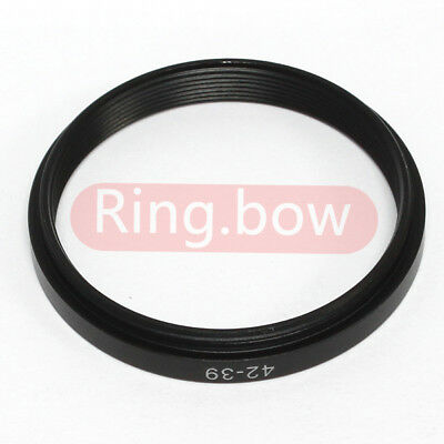 42-39mm Step-Down Metal Adapter Ring / 42mm Lens to 39mm Accessory
