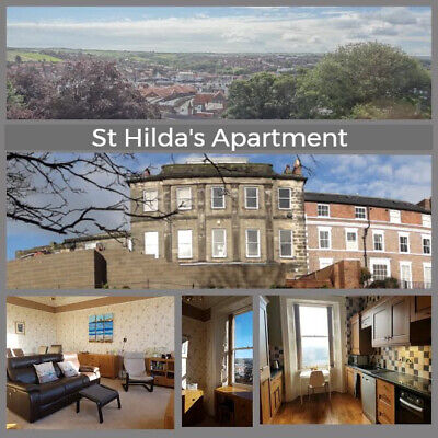 St Hildas Apartment Whitby - Spacious, Central, Views, Private Parking, sleeps 4