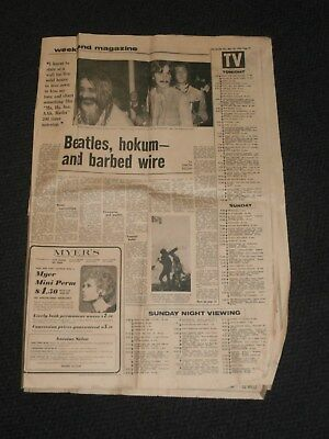 The Herald Melbourne 1968 Beatles