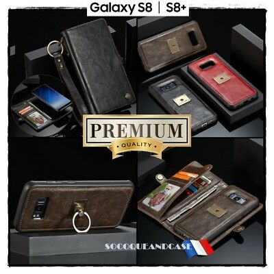 Housse Etui portefeuille coque Cuir PU Leather Case Wallet Samsung Galaxy S8 S8+
